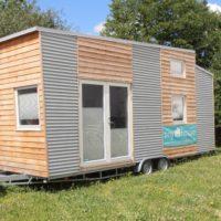 Modernes Tiny-House mit hochwertiger Innenausstattung und Infrarot-Heizung zum Aktions-Preis